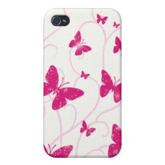 Schmetterlinge und Wirbel iPhone 4G Fall iPhone 4 Schutzhülle