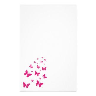 Schmetterlinge und Wirbel stationär Briefpapier