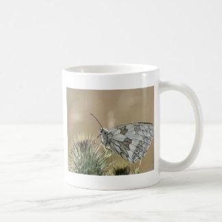 Schmetterlinge unter dem Bauch gemustert Kaffeetasse