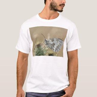 Schmetterlinge unter dem Bauch gemustert T-Shirt
