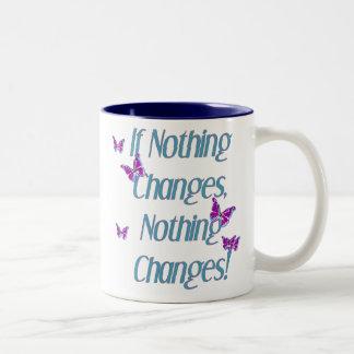 Schmetterlinge, wenn nichts ändert zweifarbige tasse
