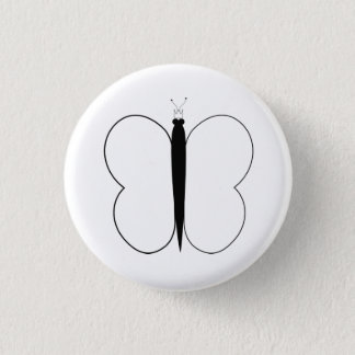 SchmetterlingPic Runder Button 2,5 Cm
