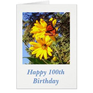 Schmetterlings-100. Geburtstag Karte