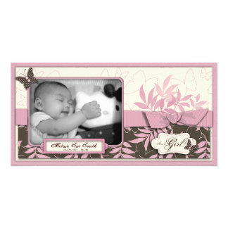 Schmetterlings-Baby-Foto-Karte Photogrußkarten
