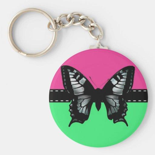 Schmetterlings-Band auf aquamarinem u. rosa Hinter Schlüsselbänder
