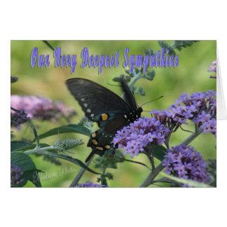 Schmetterlings-Beileidskarte Karte