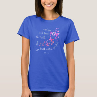 Schmetterlings-Bibel-Vers-christlicher T - Shirt
