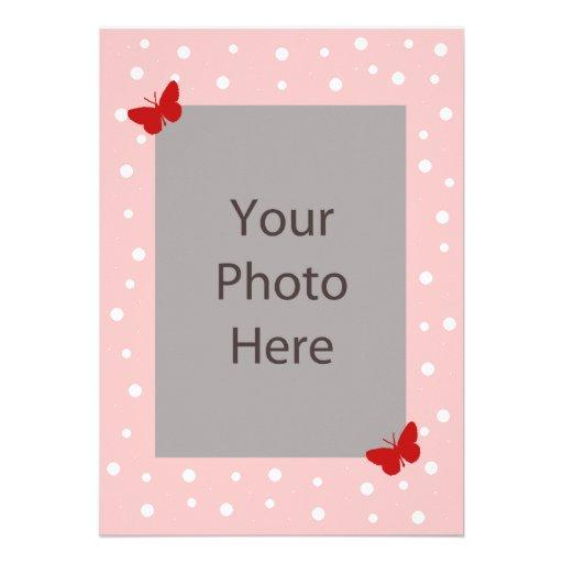 Schmetterlings-Blasen-Hochzeits-Einladung - Rosa
