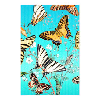 Schmetterlings-blaue Mischung Briefpapier