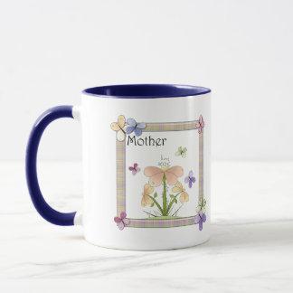 Schmetterlings-Blumen-Mutter-Tagesgeschenke Tasse