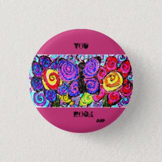 Schmetterlings-Blumenspaß Runder Button 3,2 Cm