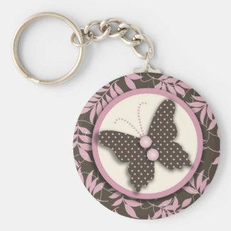 Schmetterlings-Brise Keychain II Standard Runder Schlüsselanhänger