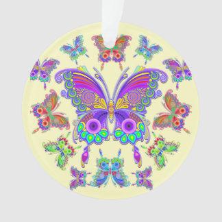 Schmetterlings-bunte Tätowierungs-Art Ornament