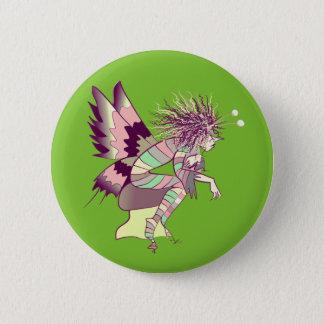 Schmetterlings-Cartoon-künstlerischer Runder Button 5,7 Cm