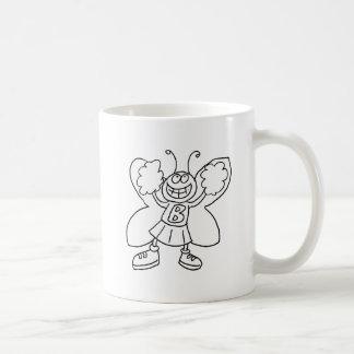 Schmetterlings-Cheerleader Kaffeetasse