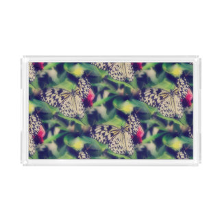 Schmetterlings-Collage Acryl Tablett