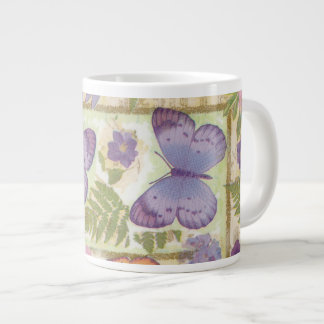 Schmetterlings-Collage Jumbo-Tasse