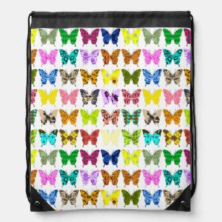 Schmetterlings-Collage Sportbeutel