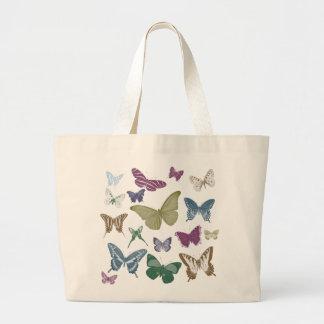 Schmetterlings-Collage Leinentaschen