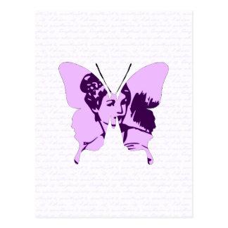 Schmetterlings-Collagen-Miniatur Postkarte