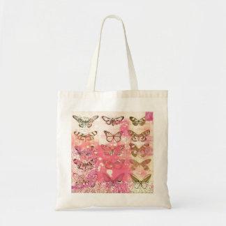 Schmetterlings-Collagen-Tasche Budget Stoffbeutel