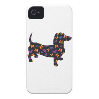 Schmetterlings-Dackel-Dackel iPhone 4 Etuis