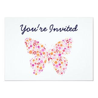 Schmetterlings-Einladung 12,7 X 17,8 Cm Einladungskarte