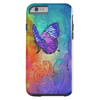 Schmetterlings-Farbexplosion Tough iPhone 6 Hülle