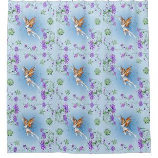 Schmetterlings-Fee Duschvorhang