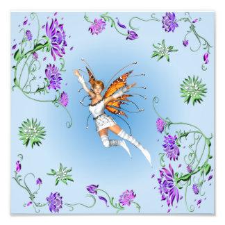 Schmetterlings-Fee Fotodruck