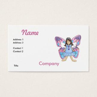 Schmetterlings-Fee-Prinzessin Visitenkarte