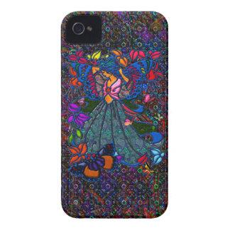 Schmetterlings-Frau in Paisley kreiste durch iPhone 4 Cover
