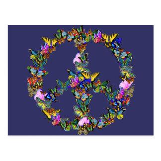 Schmetterlings-Friedenssymbol Postkarte