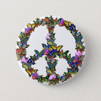 Schmetterlings-Friedenssymbol Runder Button 5,1 Cm
