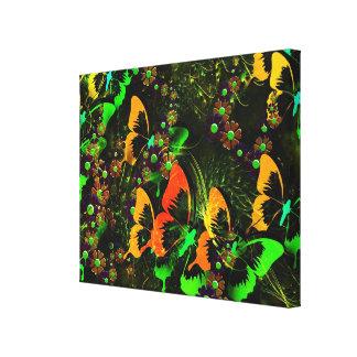 Schmetterlings-Garten 2 Leinwanddruck
