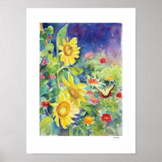 Schmetterlings-Garten, durch Sue Ann Jackson Poster