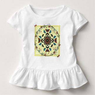 Schmetterlings-Garten-kreisförmigesabstraktes Kleinkind T-shirt