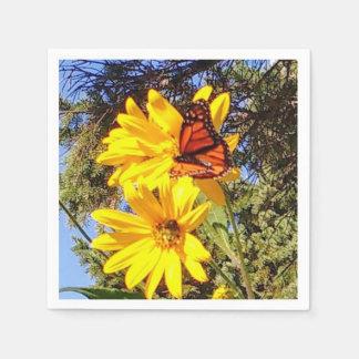 Schmetterlings-Garten Papierserviette