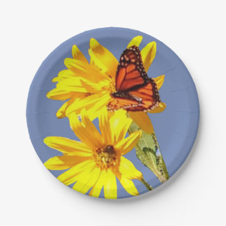 Schmetterlings-Garten Pappteller