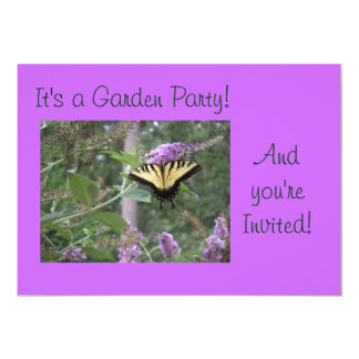 Schmetterlings-Garten-Party Einladung