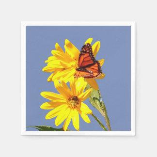 Schmetterlings-Garten Serviette