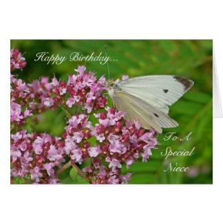 Schmetterlings-Geburtstags-Karte für eine Grußkarte