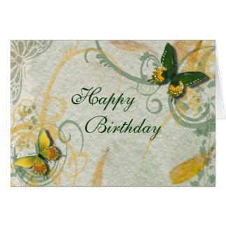 Schmetterlings-Geburtstags-Karte Karte