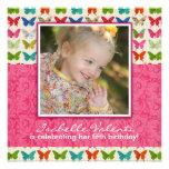 Schmetterlings-Geburtstags-Party Einladung