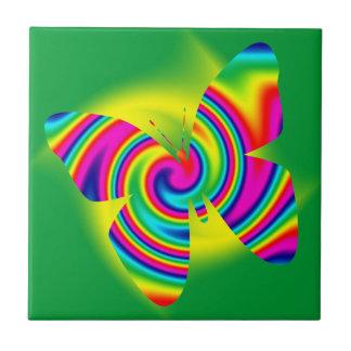 Schmetterlings-geformte Regenbogen-Rotation Fliese