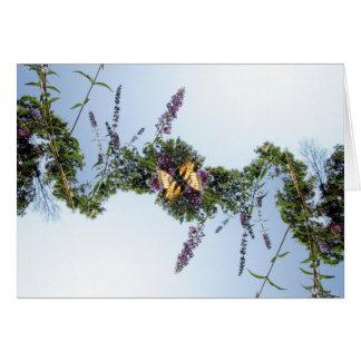 Schmetterlings-Girlande Karte