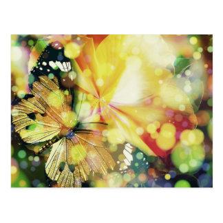 Schmetterlings-Glitzern Postkarte
