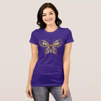 Schmetterlings-Gold T-Shirt