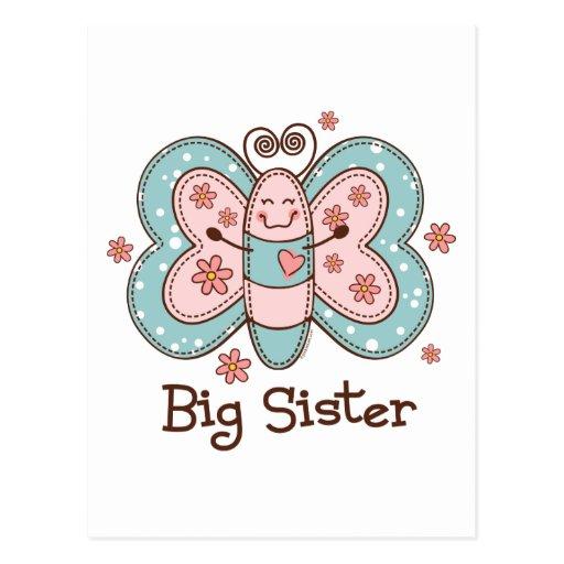 Schmetterlings-große Schwester Postkarten