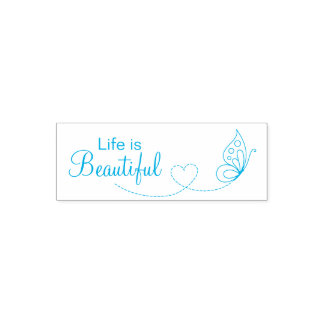 Schmetterlings-Herz - das Leben ist schön Permastempel